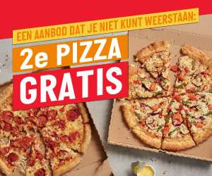 2e pizza gratis / 2nd pizza for free Papa john's Overtoom Amsterdam