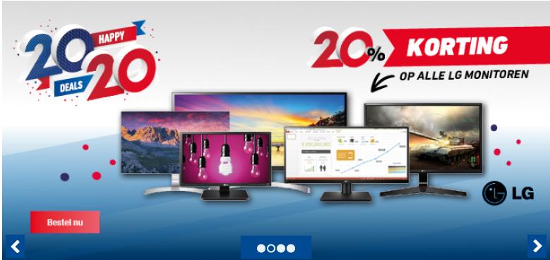 20% korting op LG monitoren @OfficeCentre