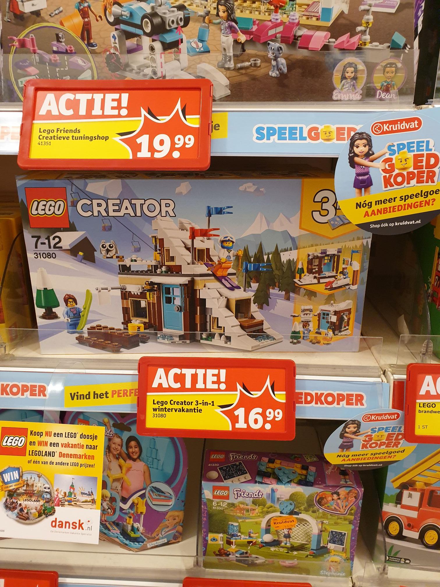 Laagste prijs ooit Kruidvat: LEGO CREATOR 31080 MODULAIRE WINTERVAKANTIE