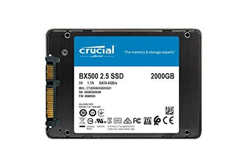 Crucial BX500 2TB SATA SSD (Leessnelheid: 540MB/s - Schrijfsnelheid: 500MB/s)@Amazon.de