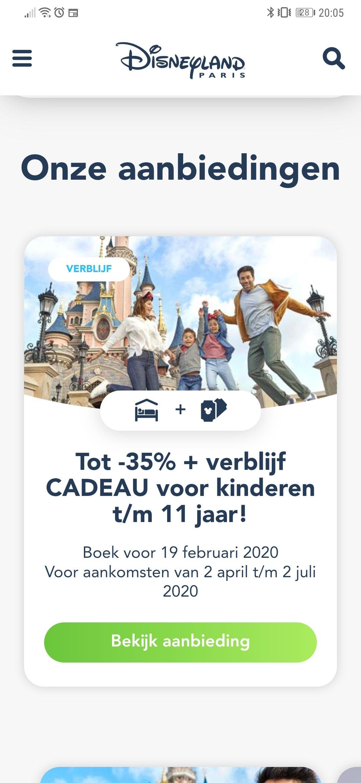 Via België Disneyland boeken 35% + kids cadeau