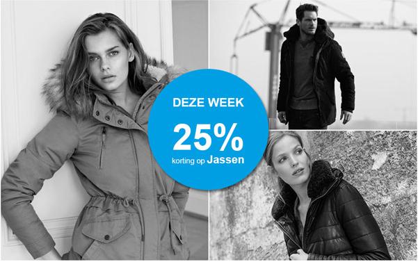 25% - EXTRA - korting op jassen - dames & heren @ Sans Online