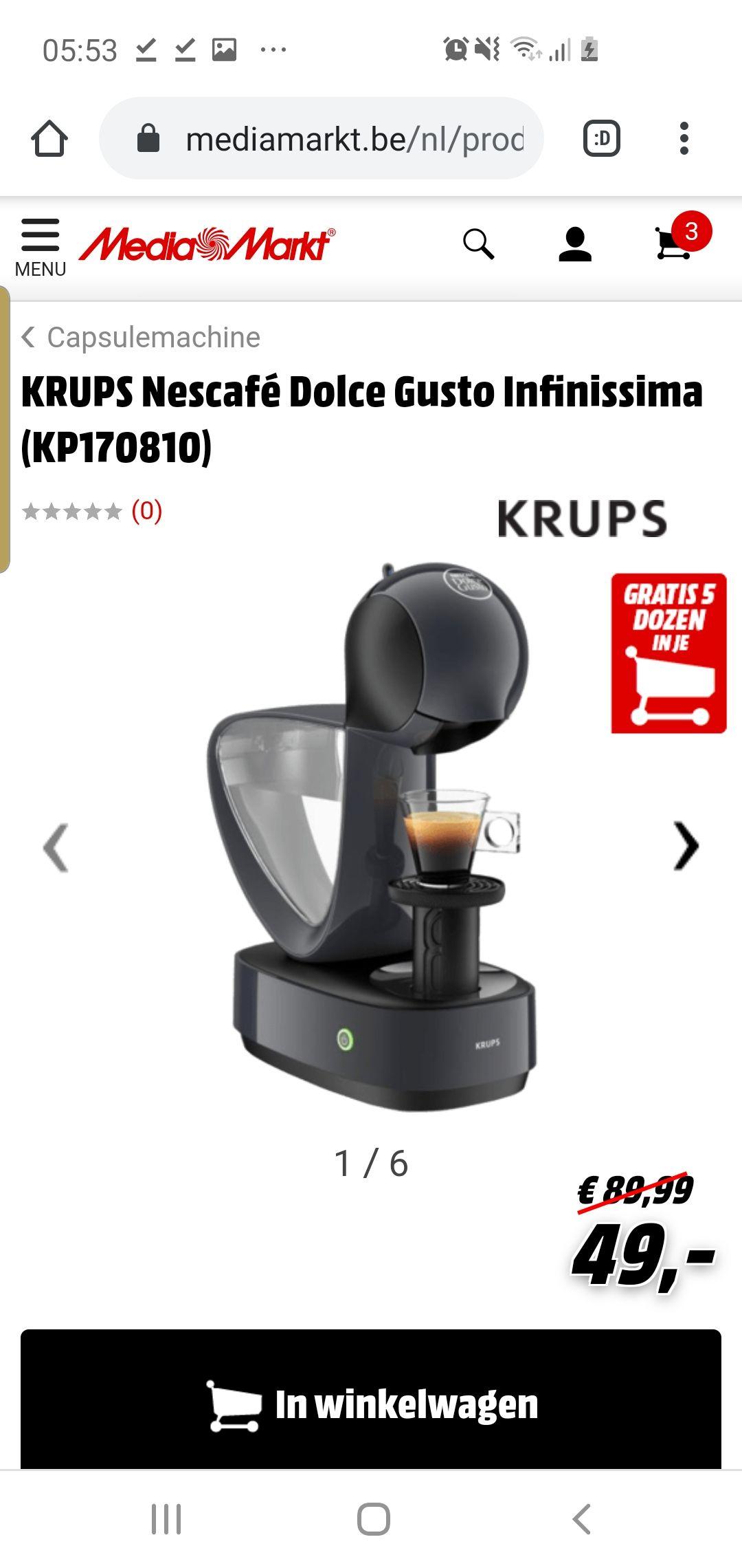 KRUPS Nescafé Dolce Gusto Infinissima (KP170810) met 80 gratis capsules