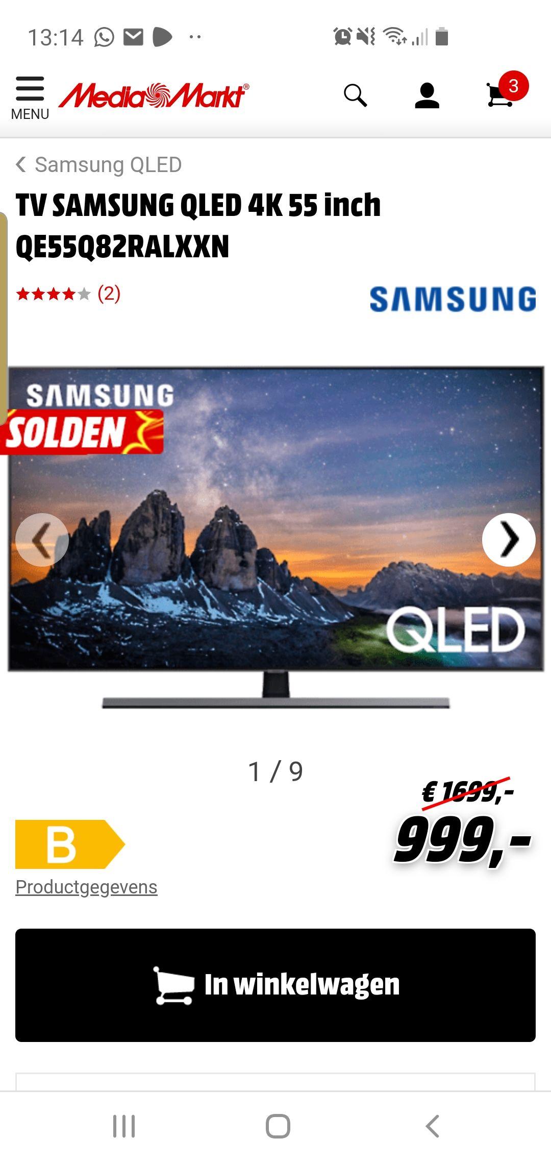 Samsung QLED TV SAMSUNG QLED 4K 55 inch QE55Q82RALXXN