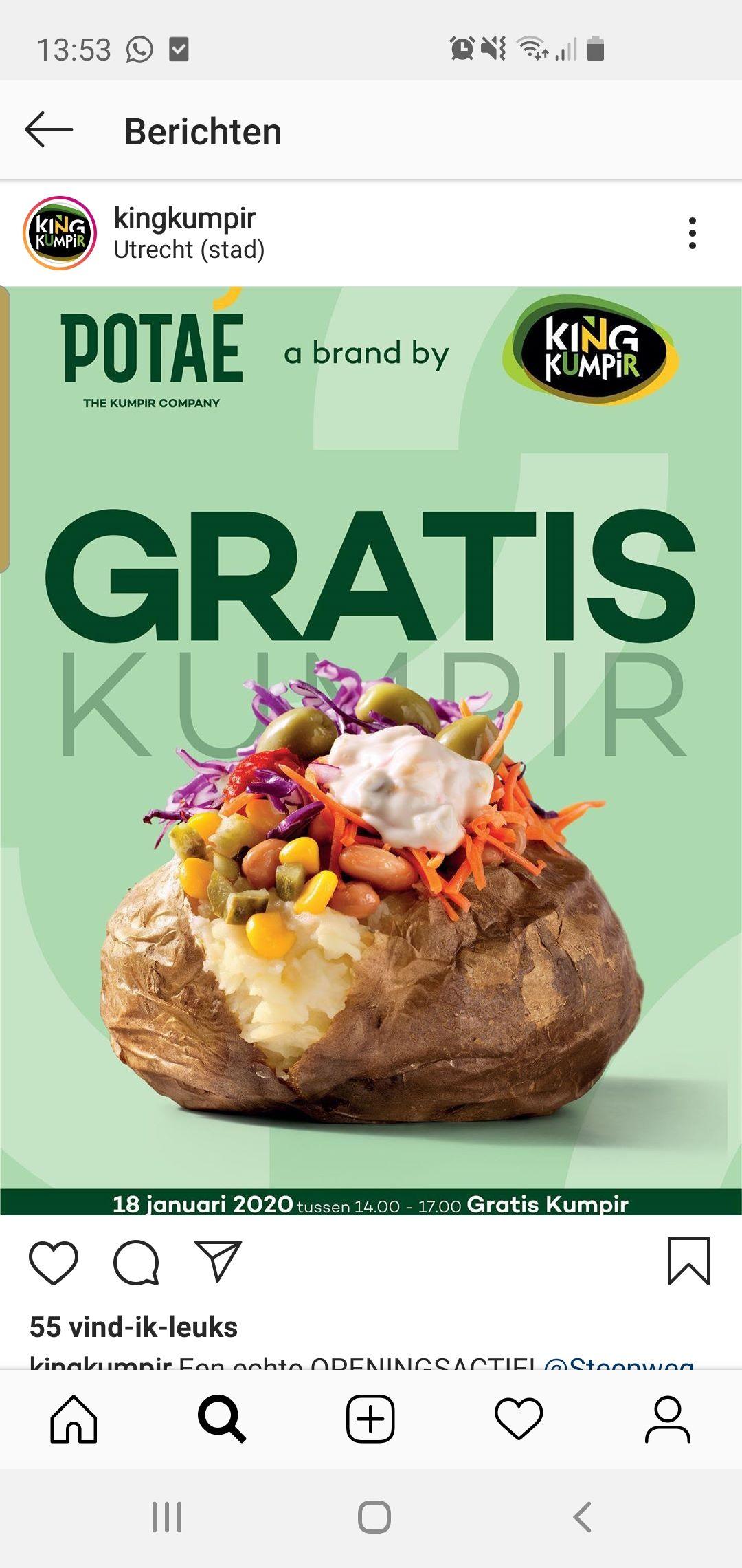 Gratis king kumpur eten in utrecht tussen 14:00 en 17:00 18 januari