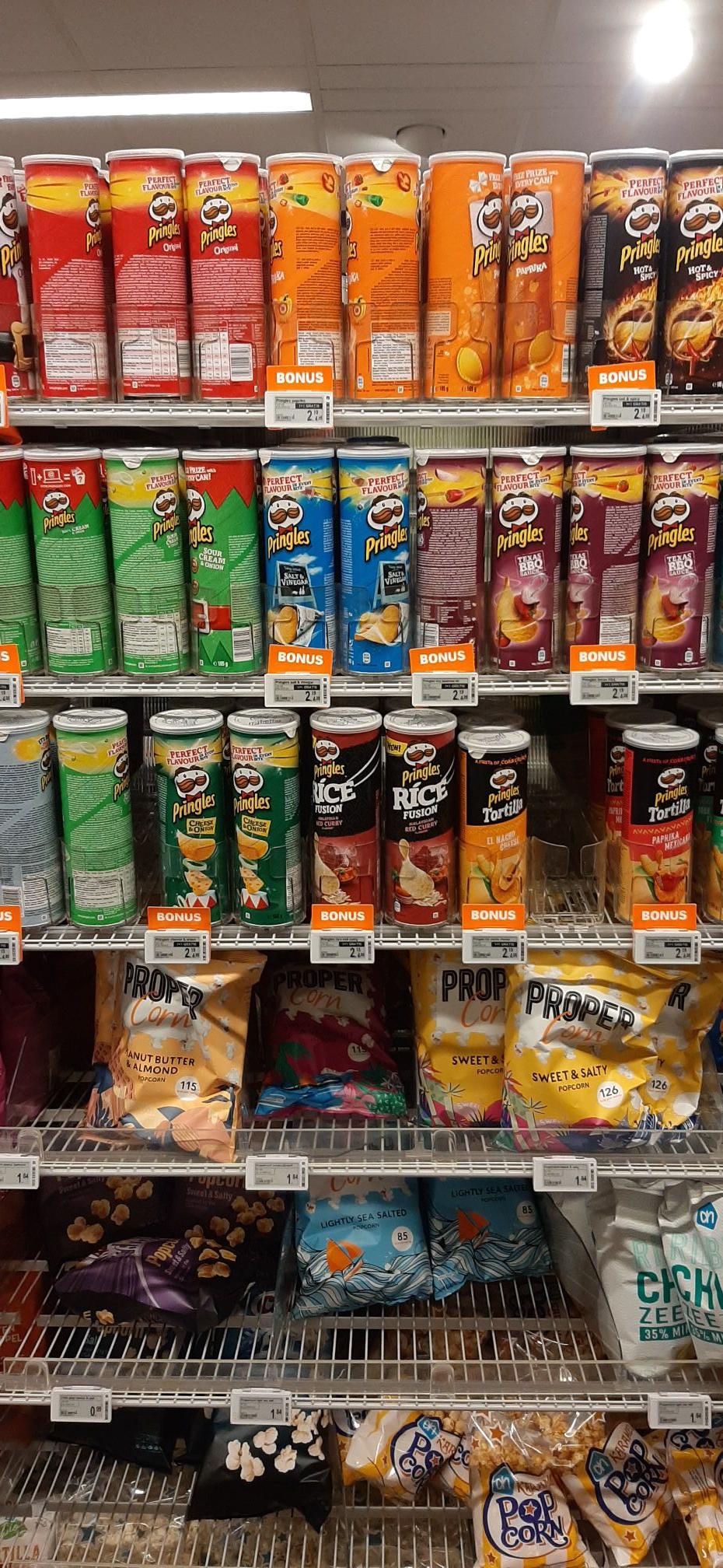 1+1 gratis Pringels AH