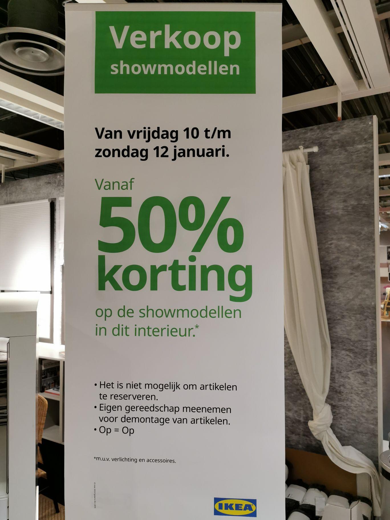 50% korting op verschillende showmodellen in IKEA Amsterdam