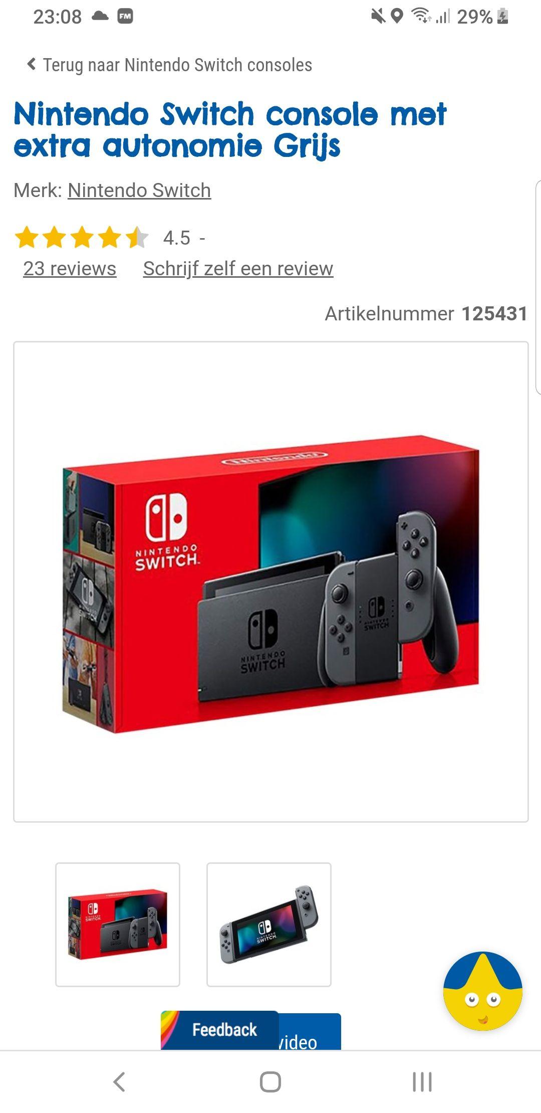 [Grensdeal be] Nintendo switch voor 270 euro op je verjaardag (jonger dan 12) of 299 normale prijs (nieuwe versie)