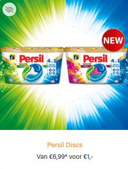 Scoupy nu voor iedereen beschikbaar: Persil Discs van €6,99 voor €1,-