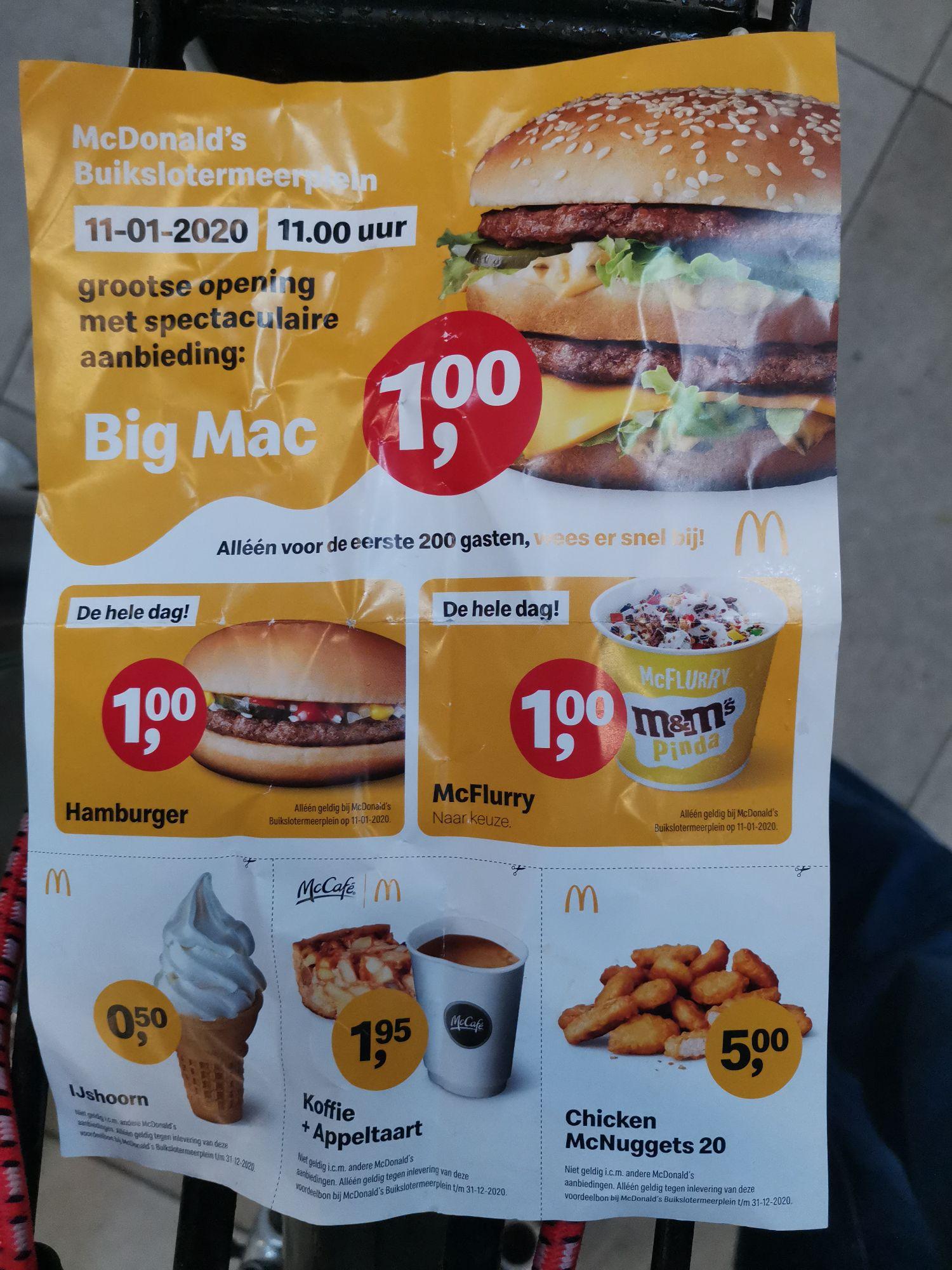 McDonald's Amsterdam Noord Buikslotermeerplein