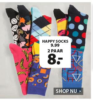 Terstal: 2 paar Happy Socks voor €8