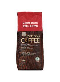 koffiebonen XL voor 7,50 ipv 9 euro (1,2 kilo) bij HEMA