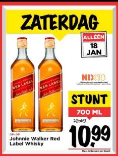 [Winkel] 700 ml Johhny Walker Red Label @Vomar