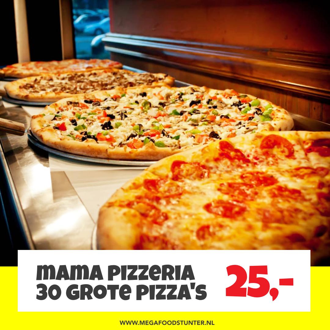 Mama Pizzeria pakket | 30 grote pizza's voor €25,- @ Mega Food Stunter 2.0