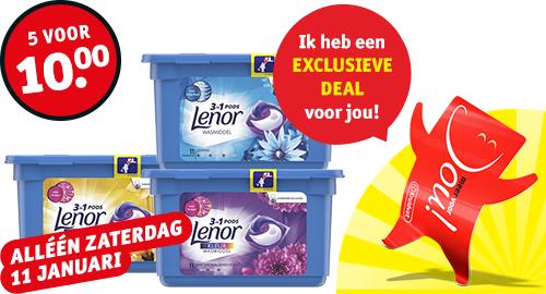 Lenor pods 5 voor 10 EUR