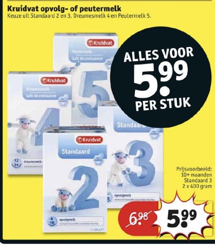 Baby voeding (flesvoeding) 5,99 euro ipv 6,99