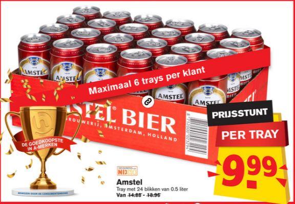 Amstelbier halve liters bij de hoogvliet