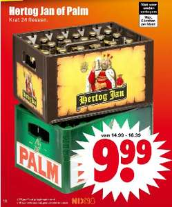 Krat à 24 flessen Hertog Jan of Palm - Dirk.nl