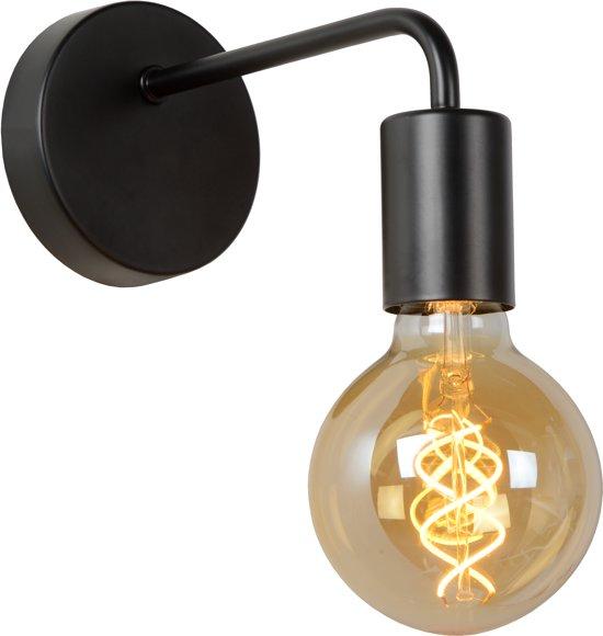 Lucide SCOTT - Wandlamp - E27 - Zwart