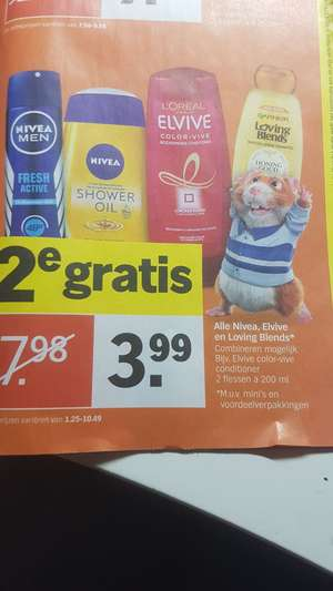 Alle nivea, elvive en loving blends 2e gratis Albert Heijn
