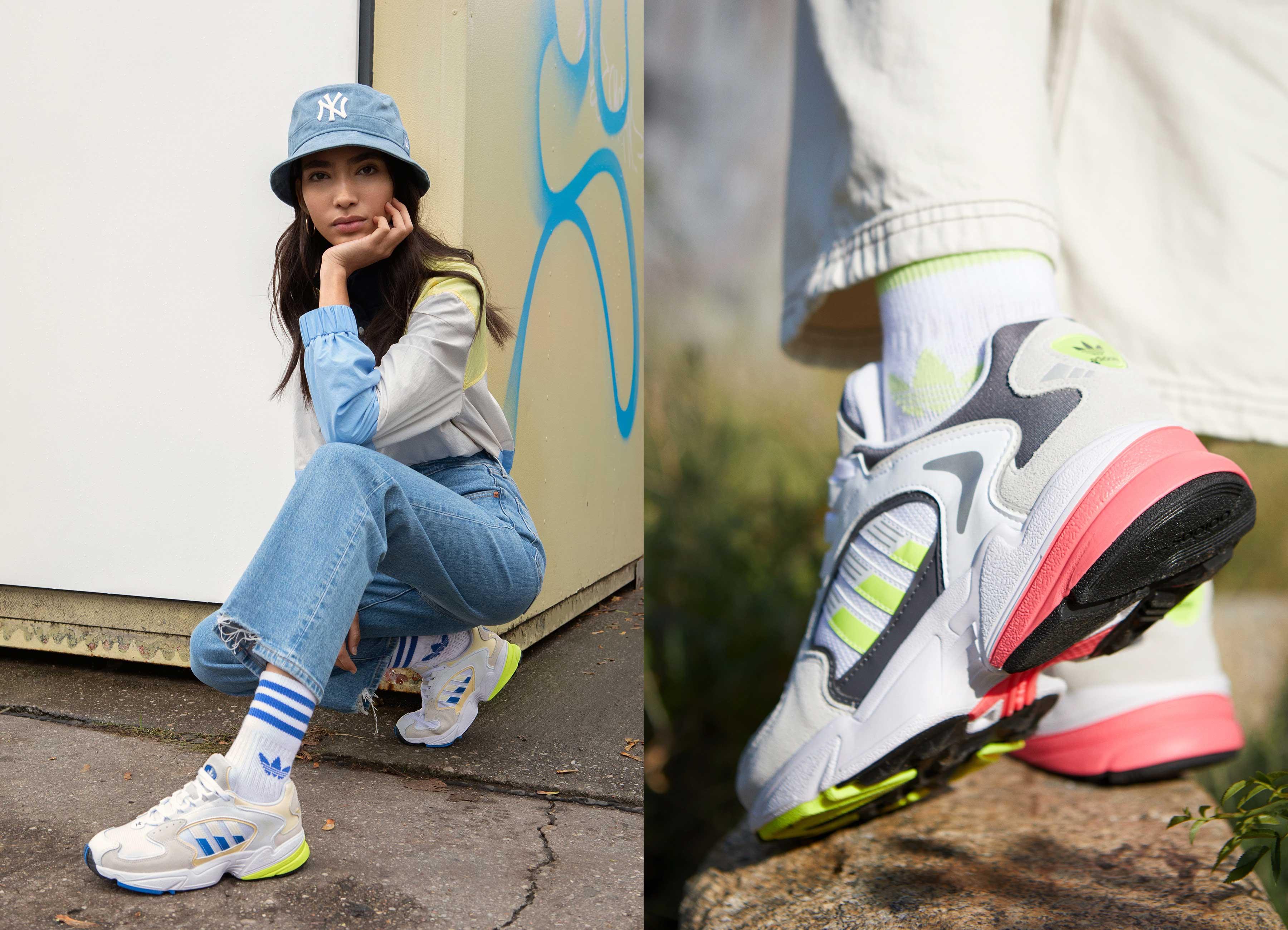 adidas Falcon 2000 dames sneakers -70% - 2 kleuren @ Zalando
