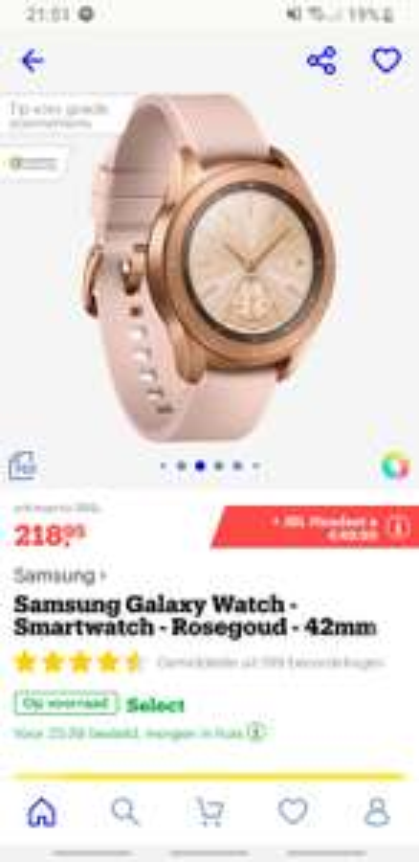 Samsung Galaxy Watch 42mm zwart bij bol.com
