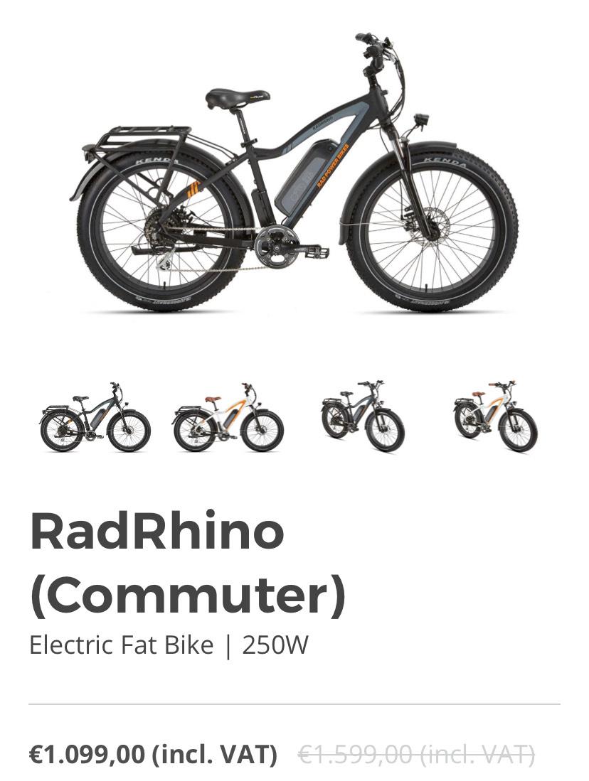 Radrhino elektrische Fatbike