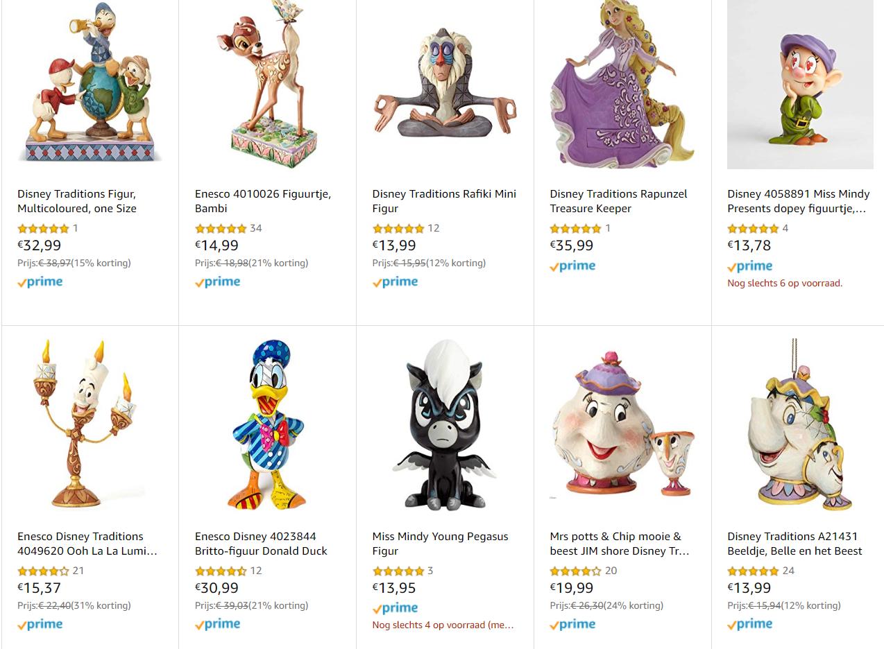Korting op diverse Disneybeeldjes van polyresin @ amazon.de