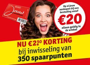 €2,50 korting bij inwisseling van 350 spaarpunten @Kruidvat