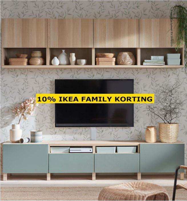 10% IKEA FAMILY korting op de gehele BESTÅ serie