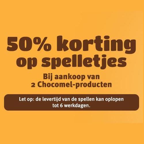50% korting op diverse spellen bij aankoop van 2 Chocomel producten @ Eurosparen