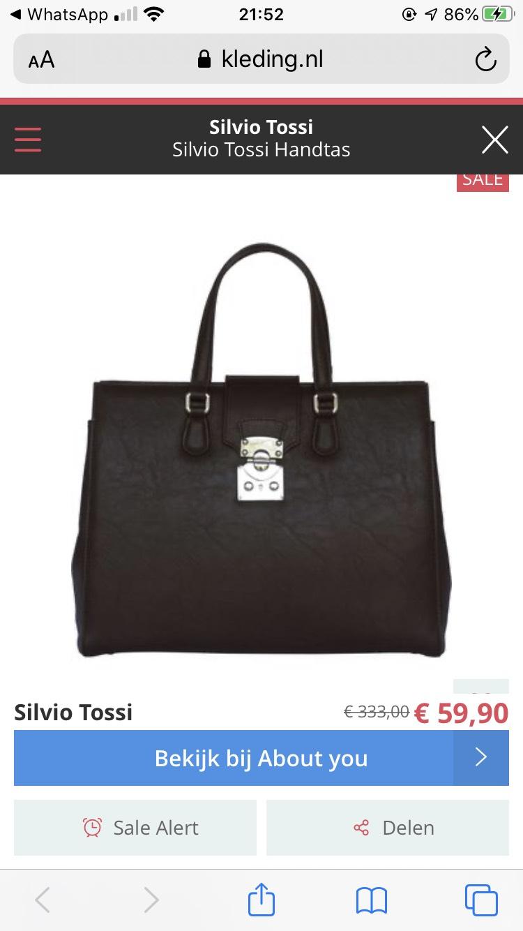 Silvio tossi tassen 82% korting