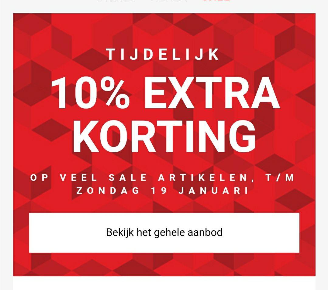 Bijenkorf 10% extra korting op deel van sale