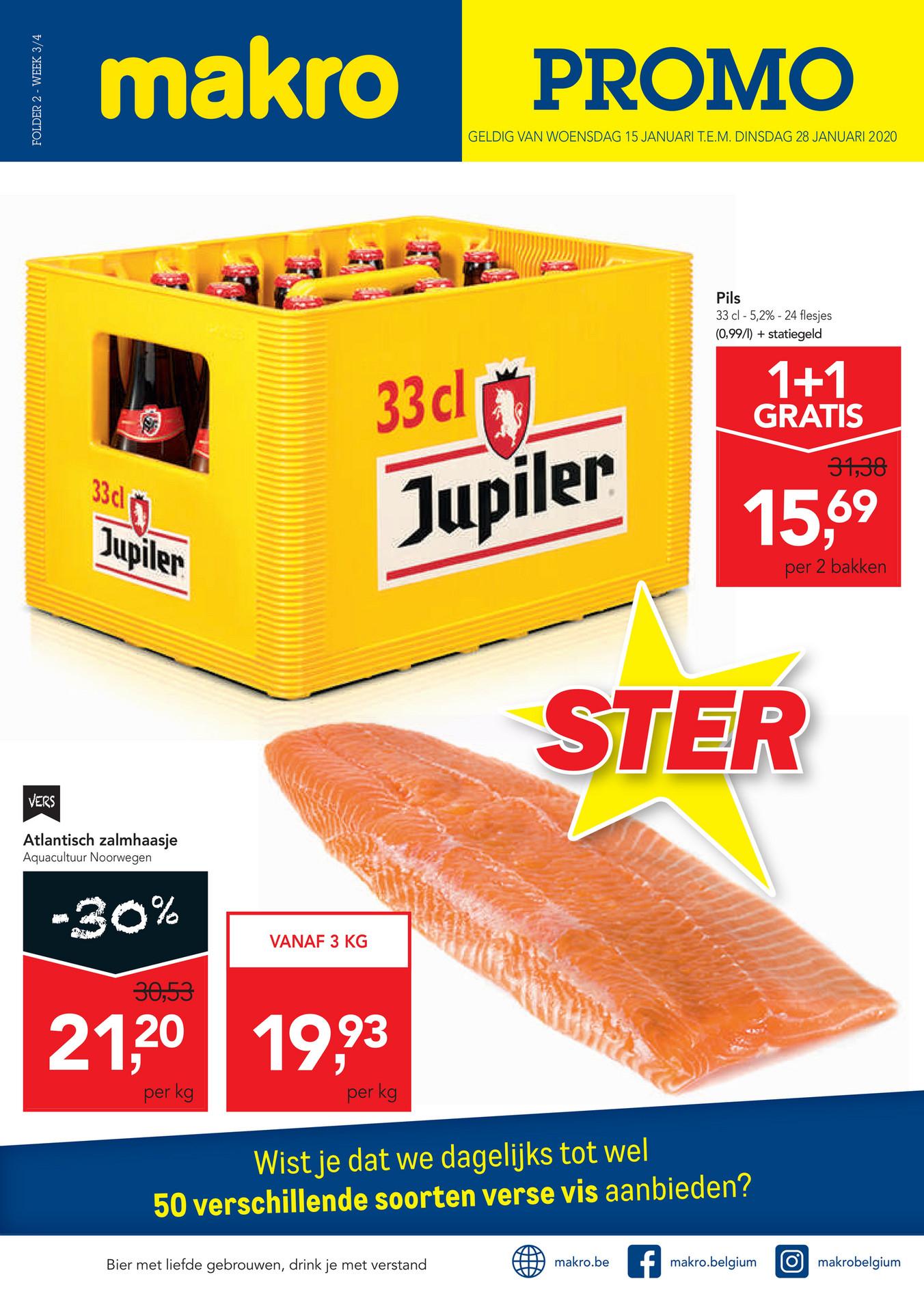 [België] Jupiler kratten (33CL) 1+1 gratis