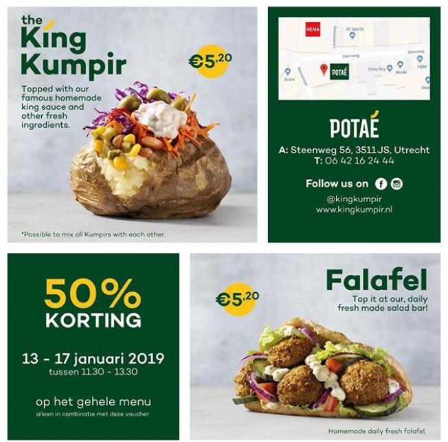 [Utrecht] Kumpir en Falafel 50% bij Potae