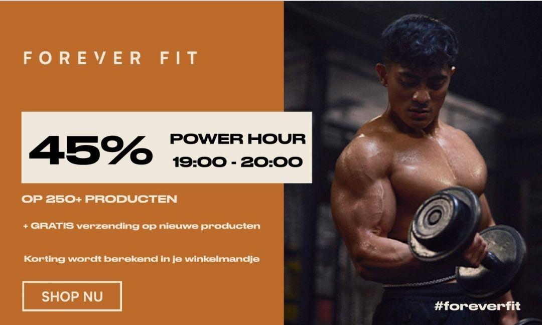 Myprotein Power hour tot 20.00 uur