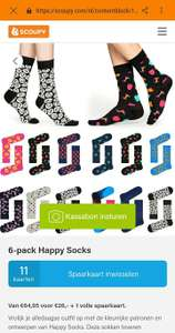 6 paar Happy Socks €26 + 1 volle spaarkaart @ Scoupy