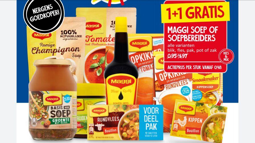 1+1 gratis - Maggi soep of soepbereiders