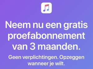 3 Maanden Gratis Apple Music