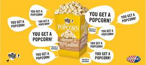 Zondag 19 januari National Popcorn Day: gratis small popcorn @ Pathé