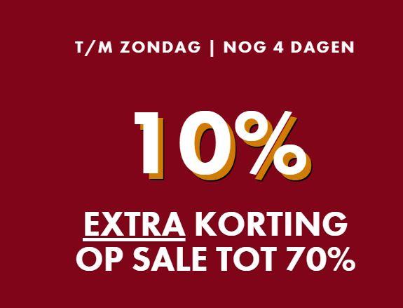 Actie: 10% extra korting op sale (nu al tot -70%) @ WE Fashion