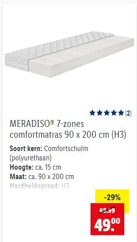 Lidl-shop - Meerdere matrassen in de aanbieding