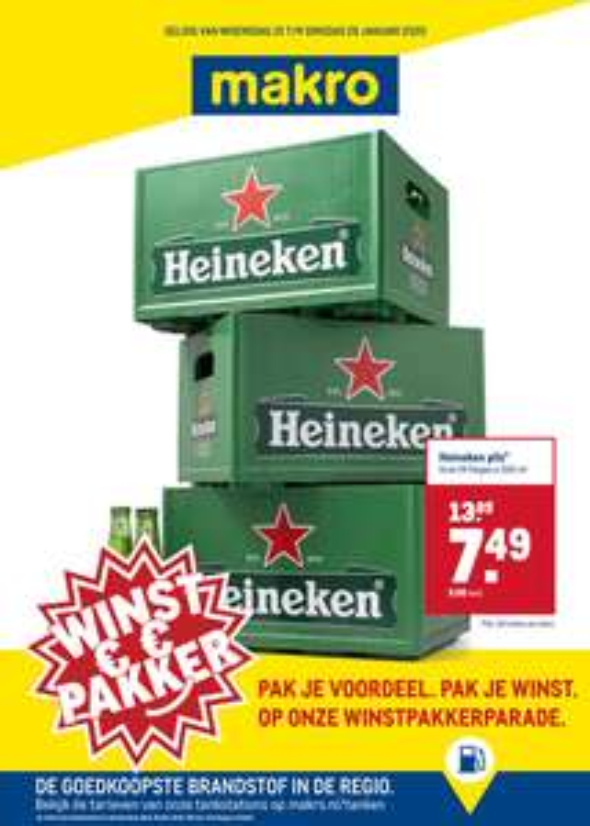 Heineken: krat 24 flesjes x 30cl