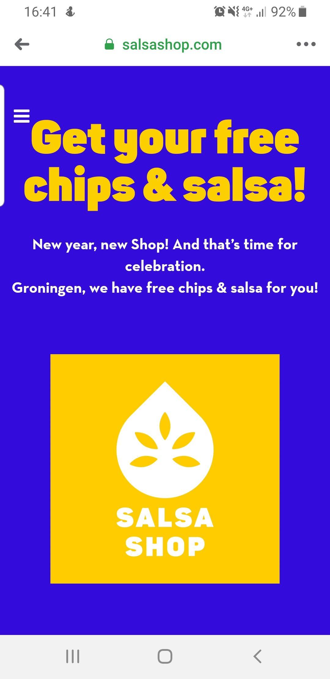 (Lokaal) Gratis chips+salsa bij Salsa Shop Groningen