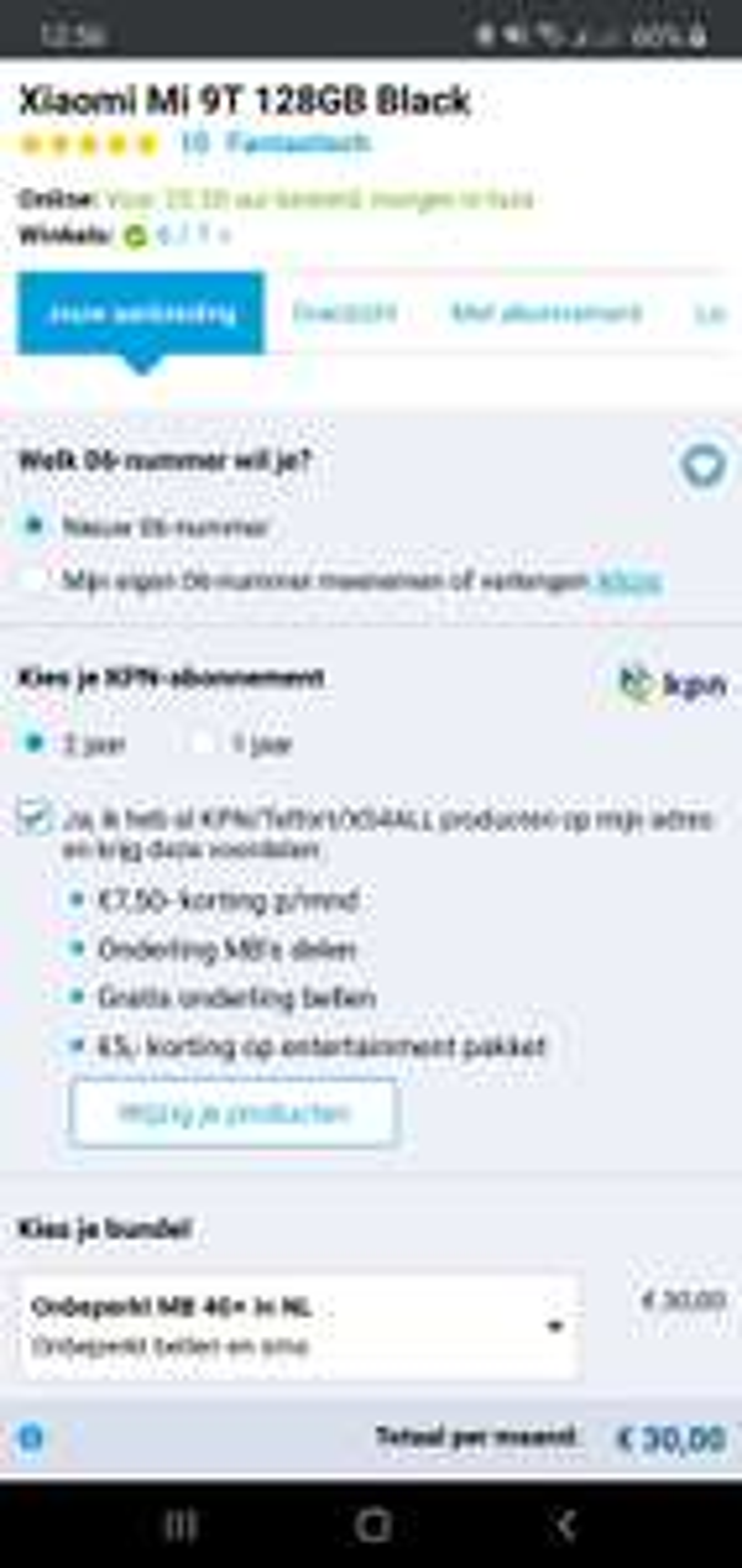 Gratis Xiaomi Mi 9T smartphone i.c.m. KPN Unlimited