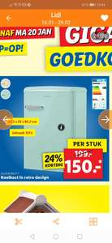 Silvercrest retro koelkast Lidl v.a. 20 januari