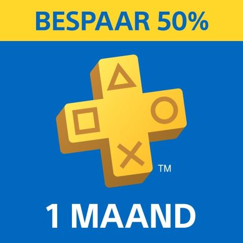 PlayStation®Plus: lidmaatschap van 1 maand - 50% korting @ PSN