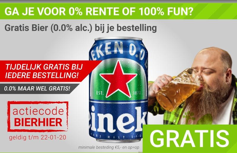 Gratis bier bij je bestelling vanaf €5