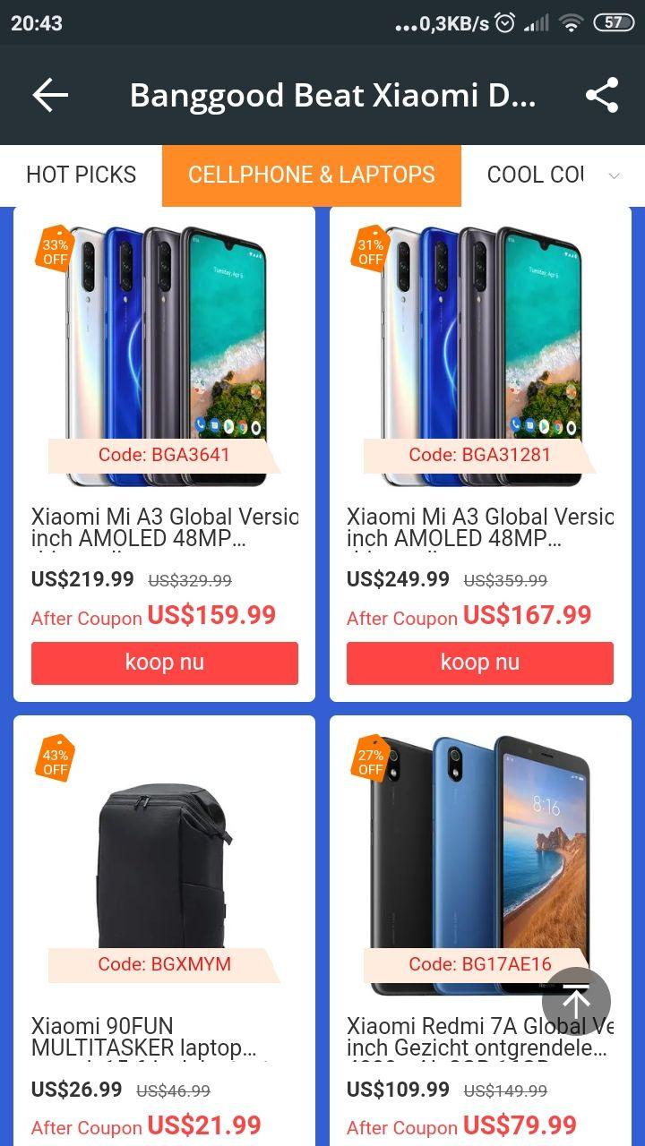 Xiaomi Mi A3 4/128gb voor 155 euro incl verzending (camera phone)