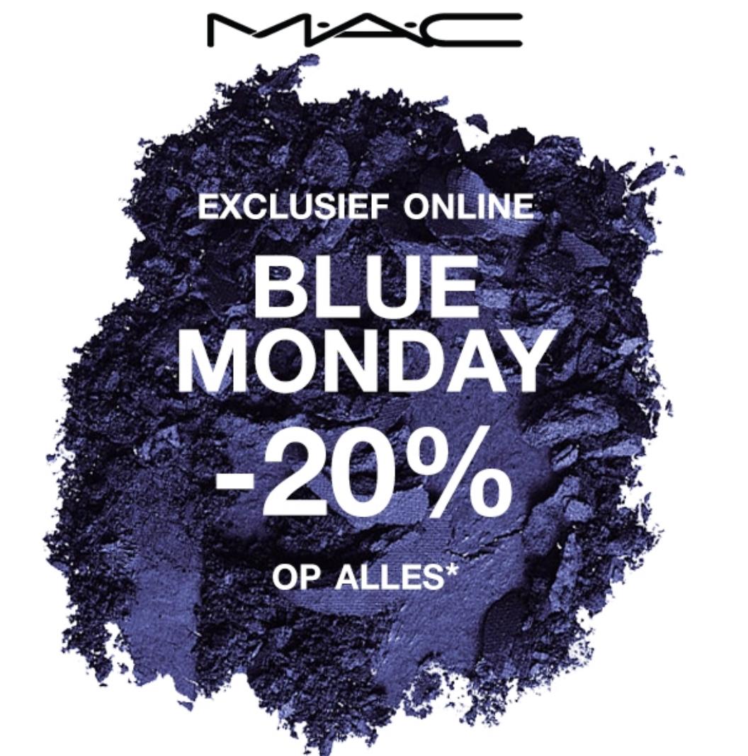 EXCLUSIEF ONLINE: BLUE MONDAY -20% KORTING OP ALLES @ MAC COSMETICS